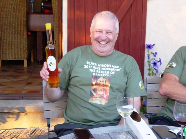 Thanks Allan - Pear Calvados with our compliments