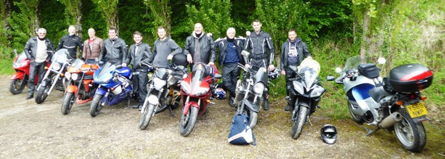 The group & their bikes