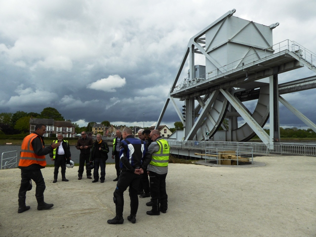 The group visit Pegasus Bridge