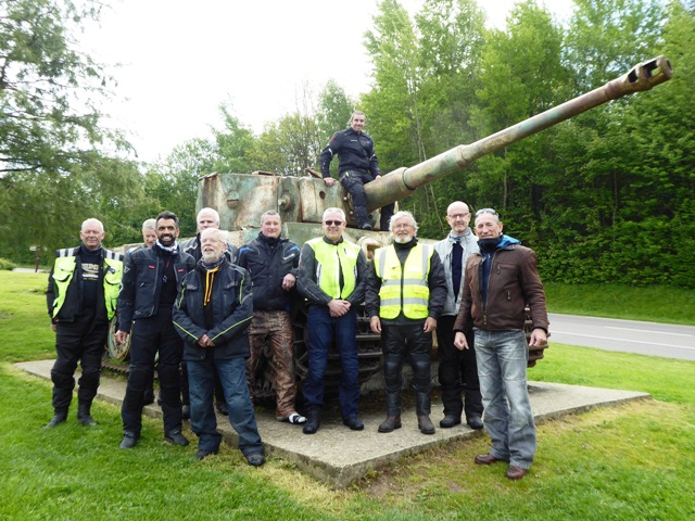 The group visit a Tiger Tank